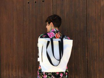 Bolso mochila hecho a mano